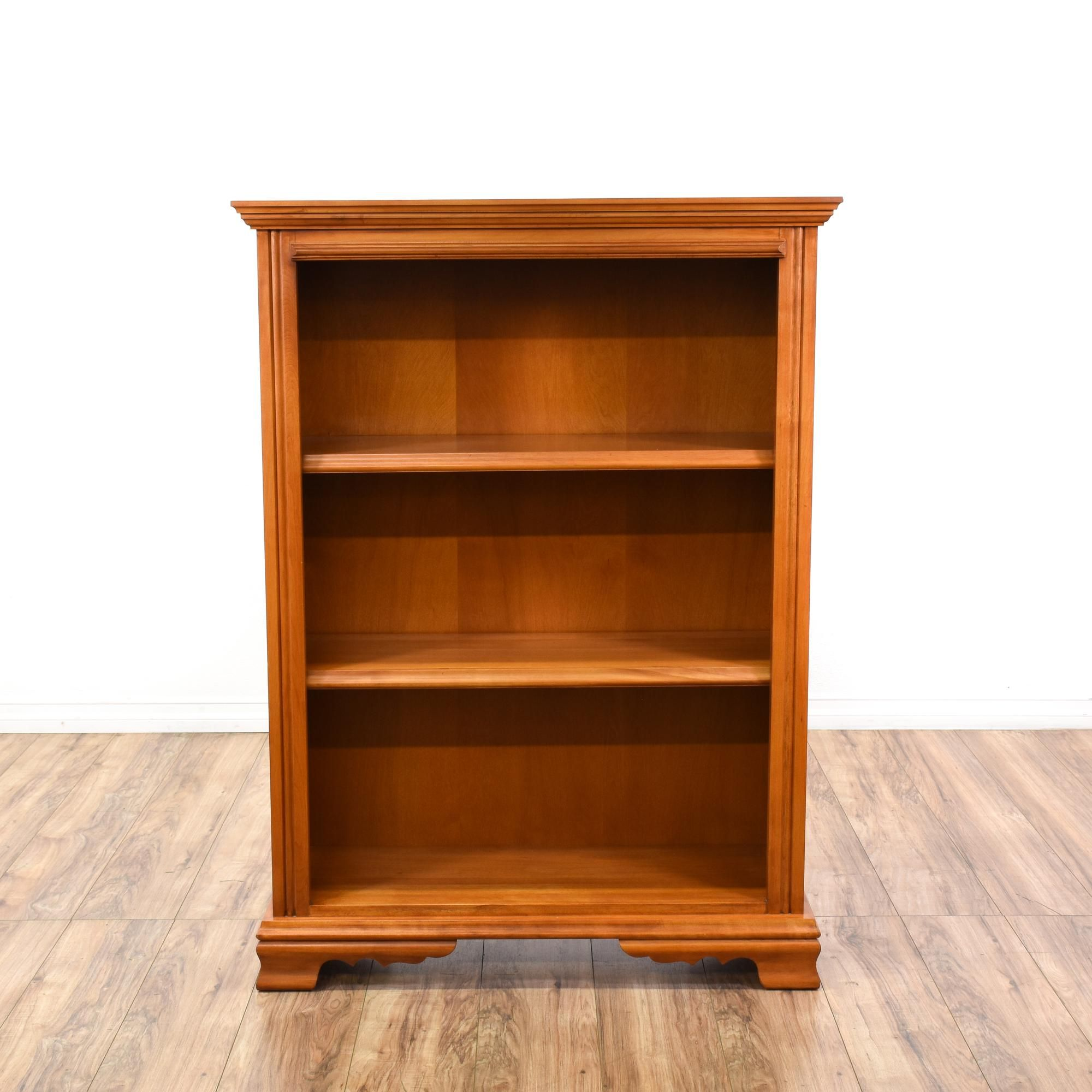 this harbor house bookcase is featured in a solid wood with a