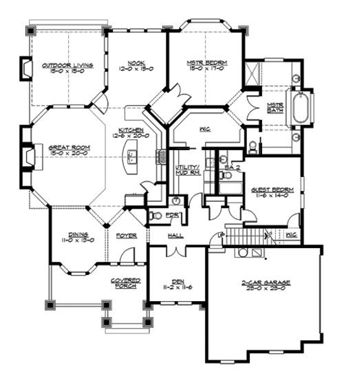 Careymoor 3249 3 Bedrooms And 3 Baths The House Designers Craftsman House Plans Craftsman Style House Plans House Plans