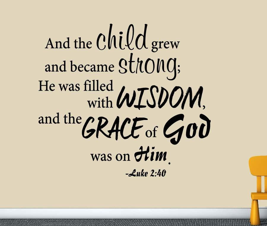 Luke 240 christian scripture wall decal for the nursery cartoon luke 240 christian scripture wall decal for the nursery altavistaventures Choice Image