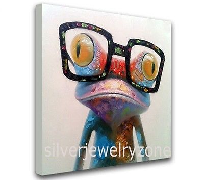 Cartoon Frog Oil Painting On Canvas Abstract Animal Wall Art For Home Decoration Animal Wall Art Oil Painting On Canvas Abstract Canvas