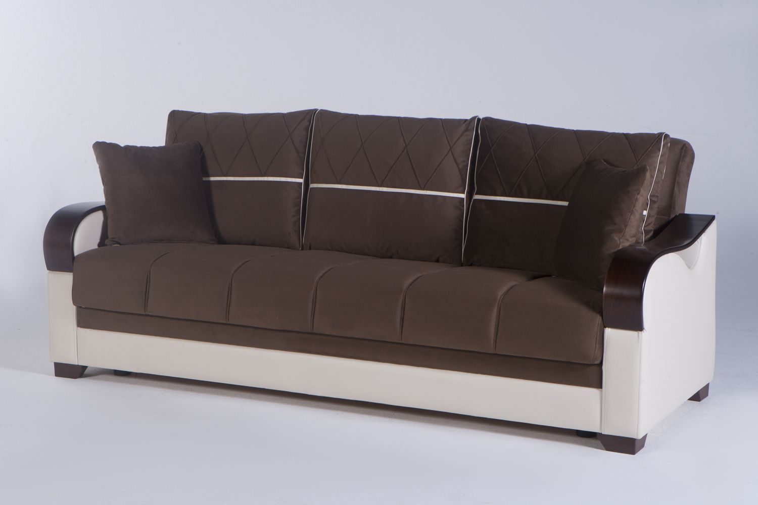 Bennett Sofa Bed in Best Brown by Istikbal