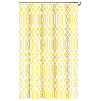 Echelon Home Irving Place Shower Curtain Yellow Shower Curtains