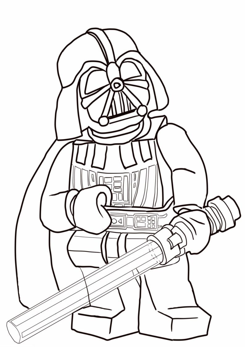 Kolorowanka Lego Star Wars Darth Vader Nr 2 Kolorowanki Lego