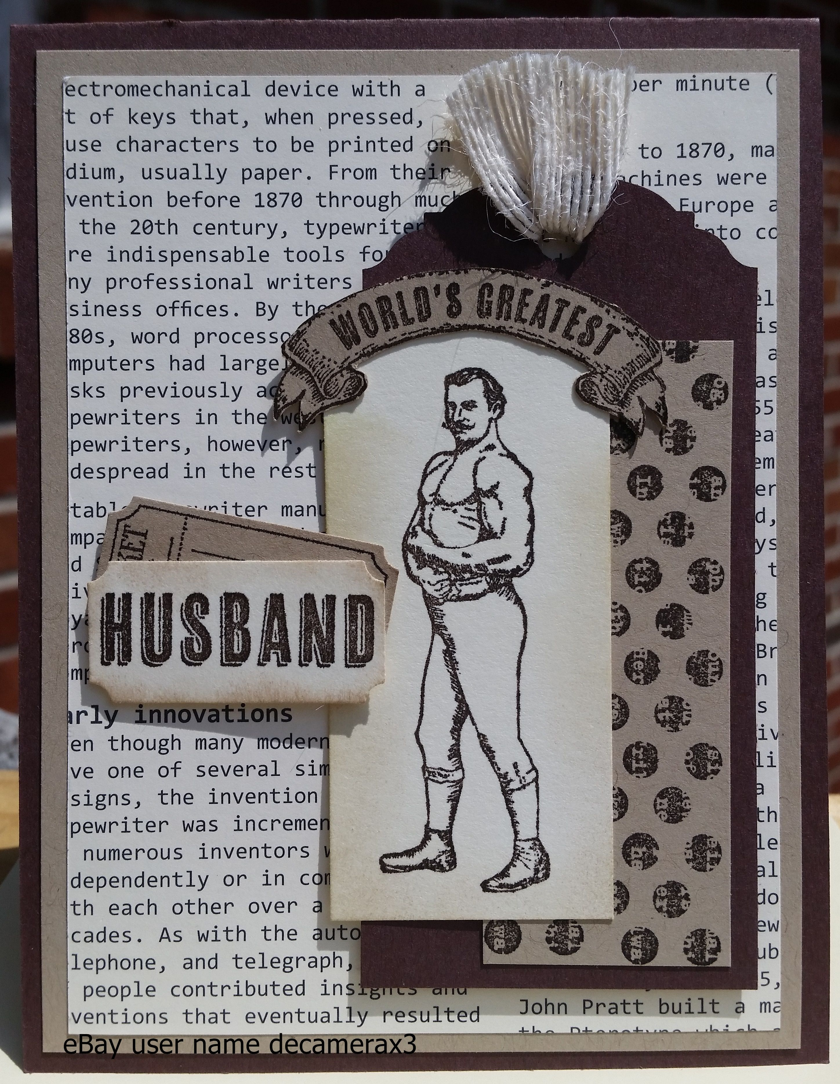 Stampin Up Handmade Birthday Card Using Guy Greetings Handmade By