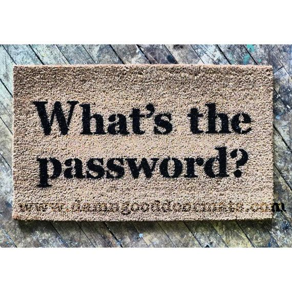 What S The Password Funny Floor Mat Doormat Door Mat Door Mat Diy Funny Welcome Mat