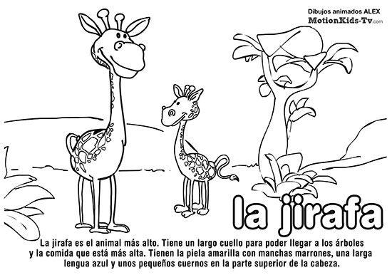 JIRAFA, pintas animales del mar, dibujos colorear | Los animales ...