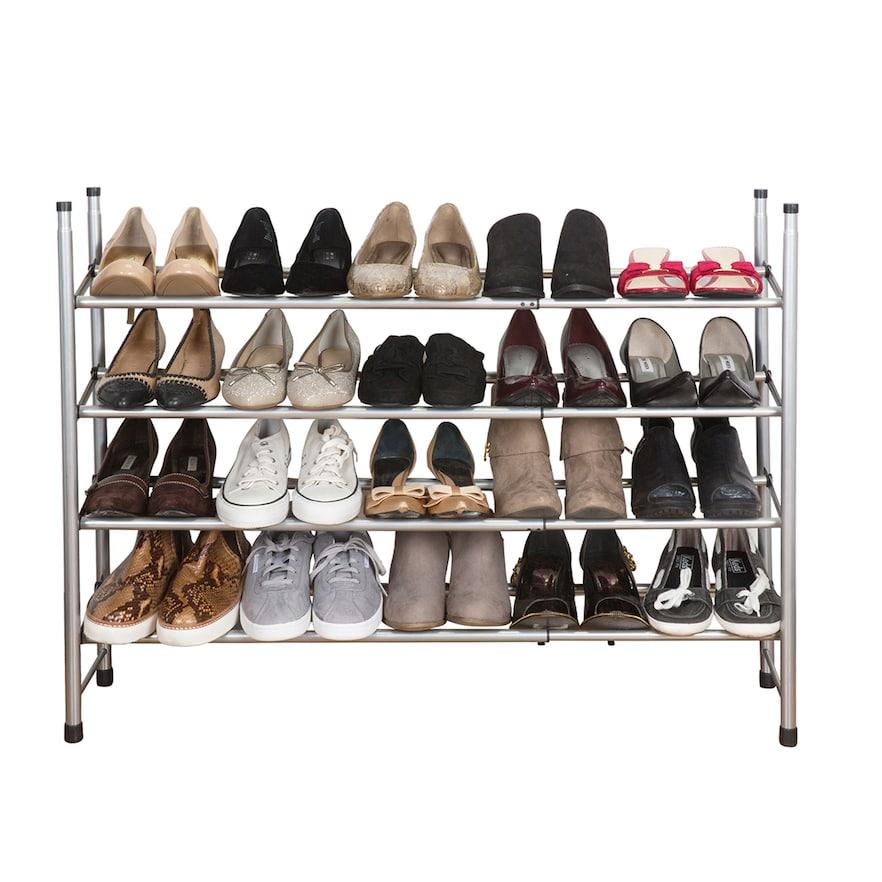 Simplify 4 Tier Expandable Shoe Rack Products Shoe Storage