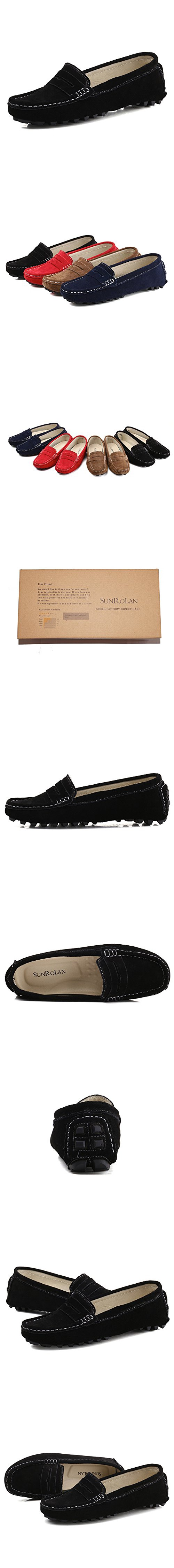 a70b81543d6 808-2hei8.5 SUNROLAN Rebacca Women s Suede Leather Driving Moccasins Slip-On  Penny