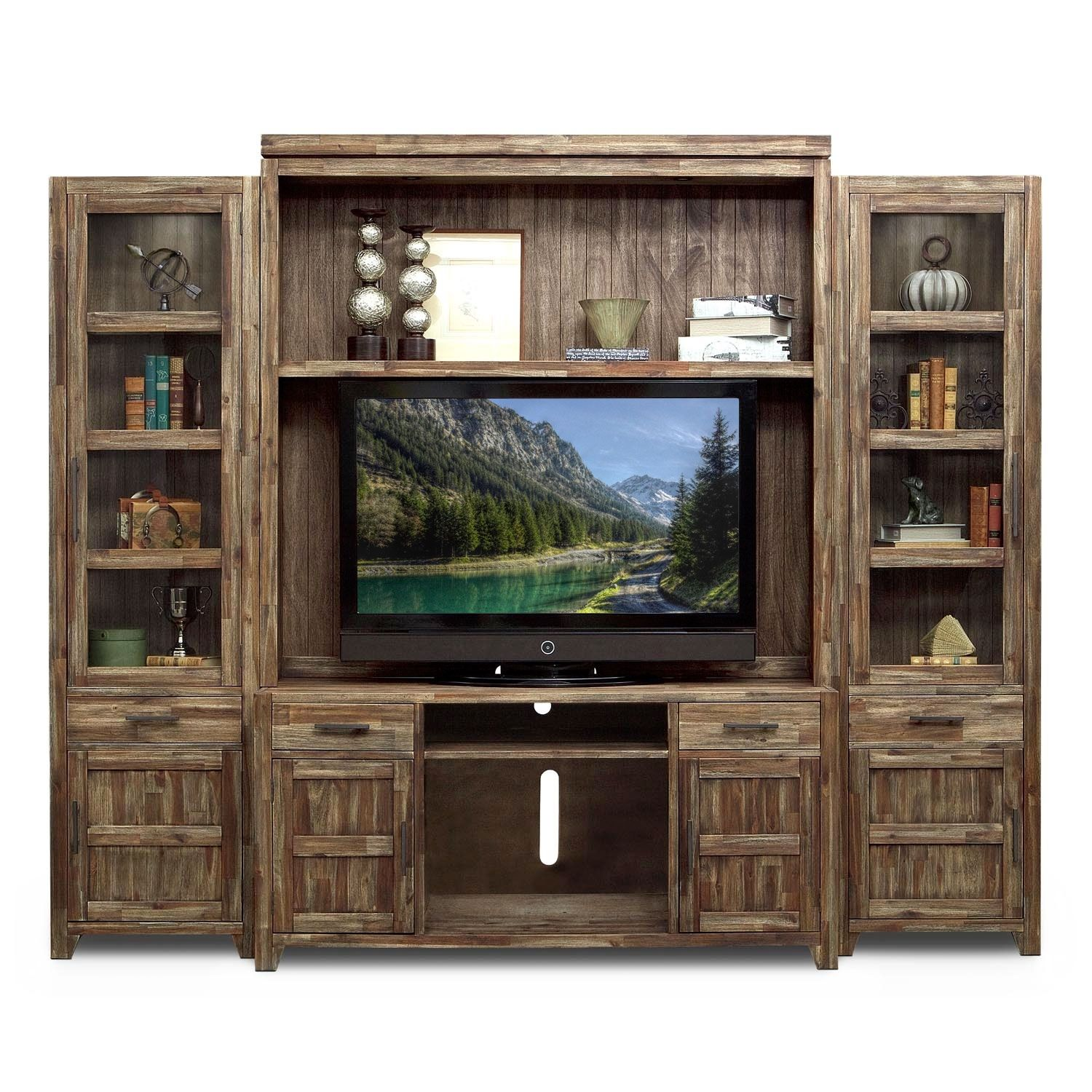 Wall Units Furniture Living Room Berkshire Entertainment Wall Units Collection Value City