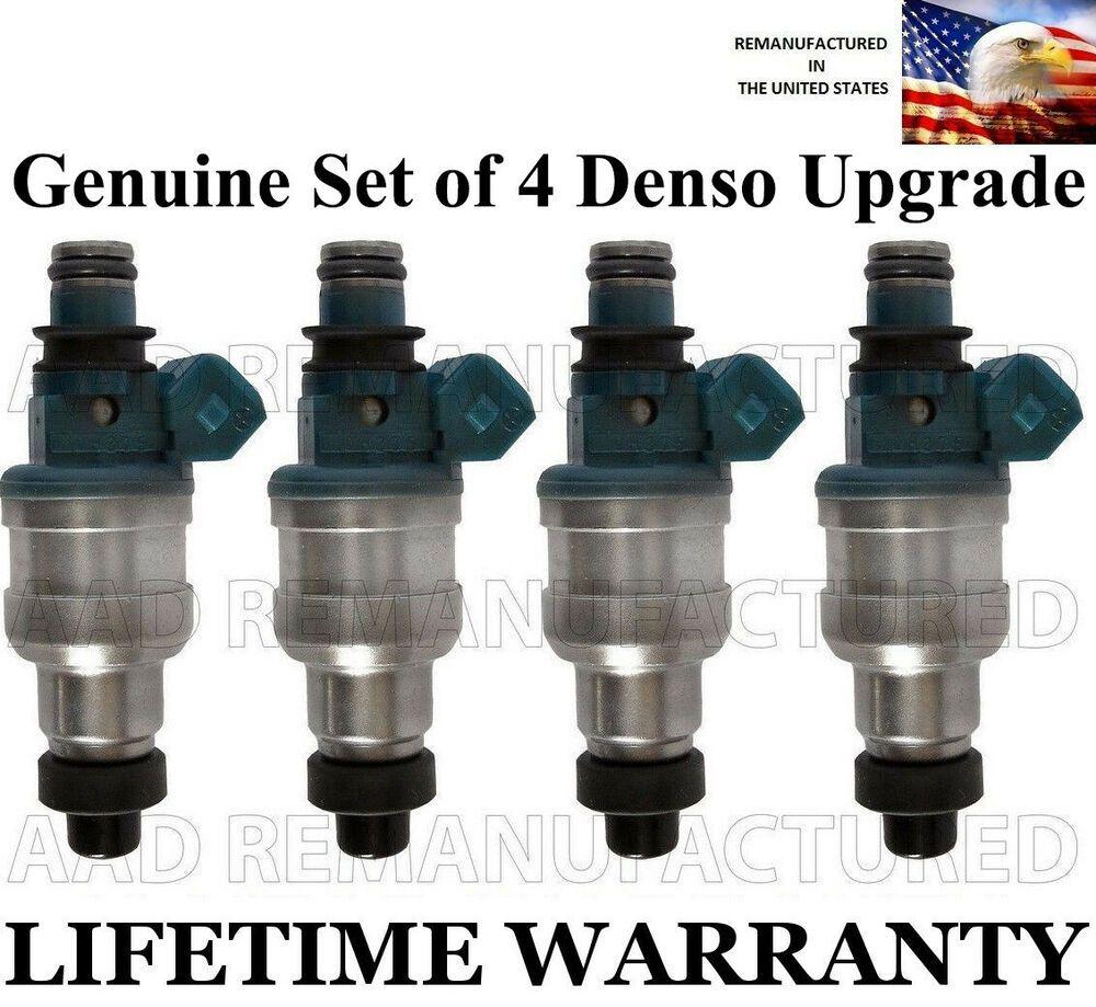 OEM Fuel Injector Set of 4 Lifetime Warranty FBJC100