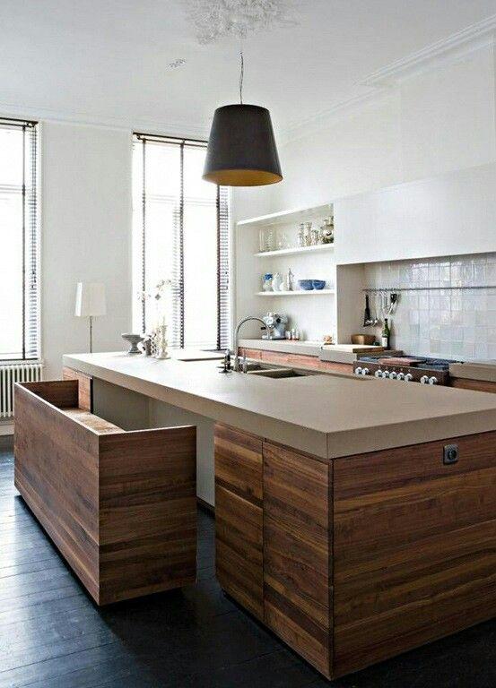 Ook een idee, ipv krukken | Design inspiration for the kitchen ...