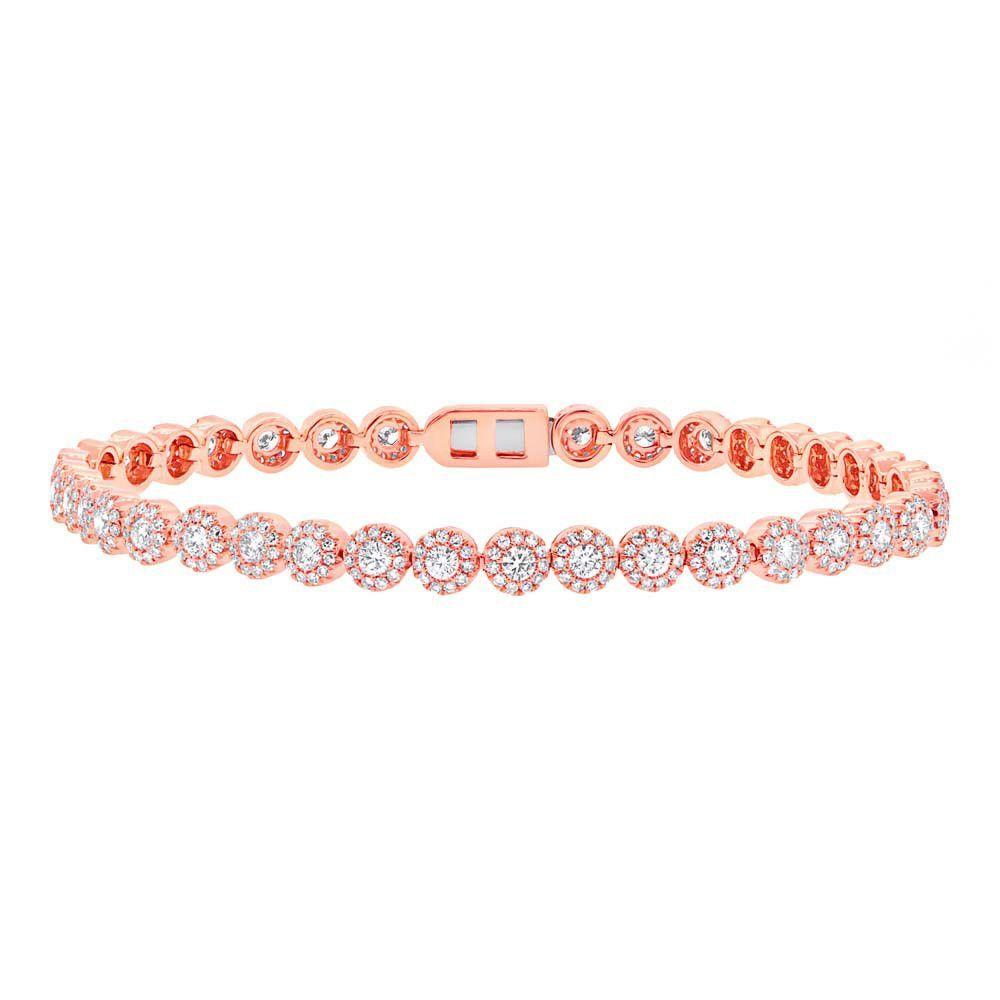 Eden tennis bracelet peach gold pink gold strawberry gold blush