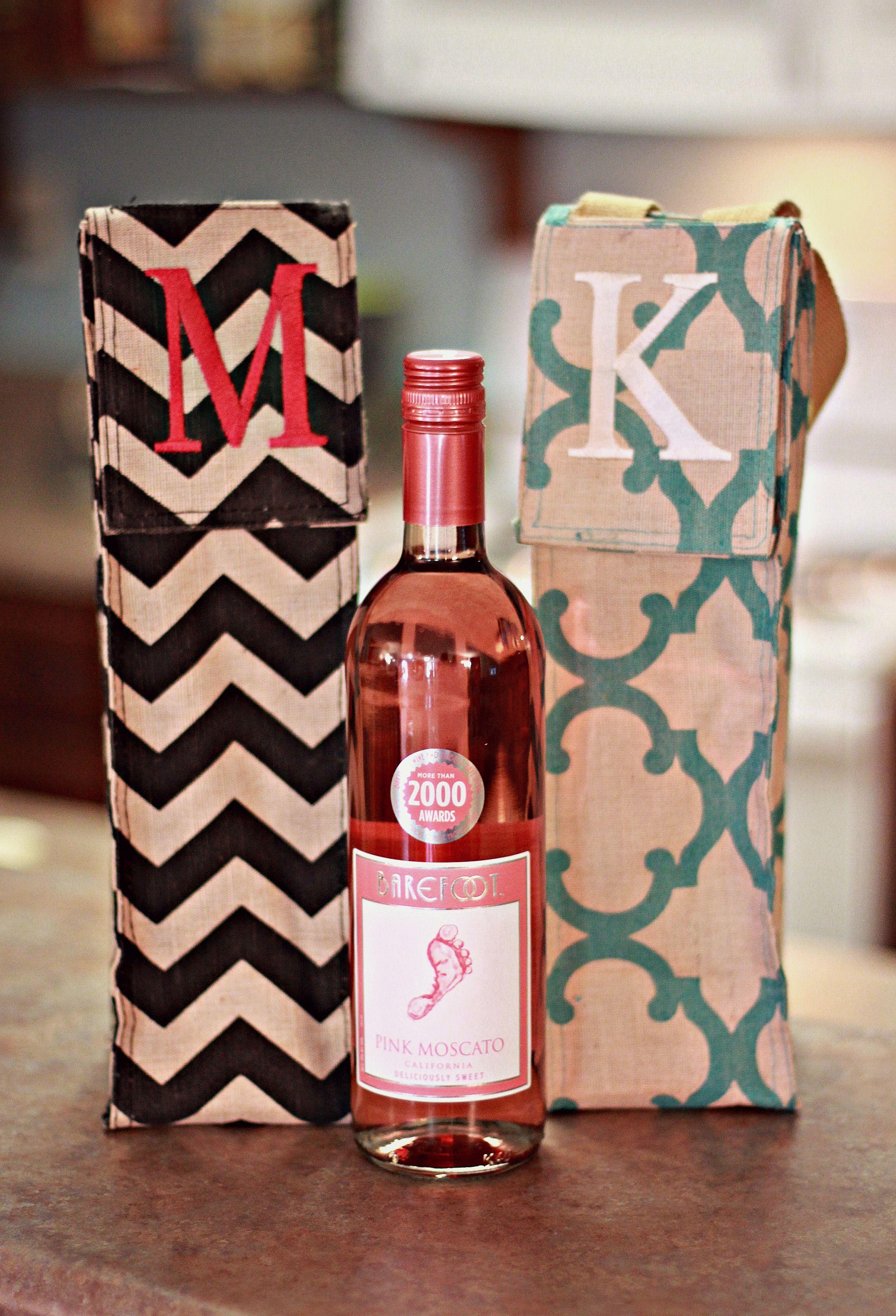 Personalized Jute Wine Tote Bridesmaid Gift Fun Madre