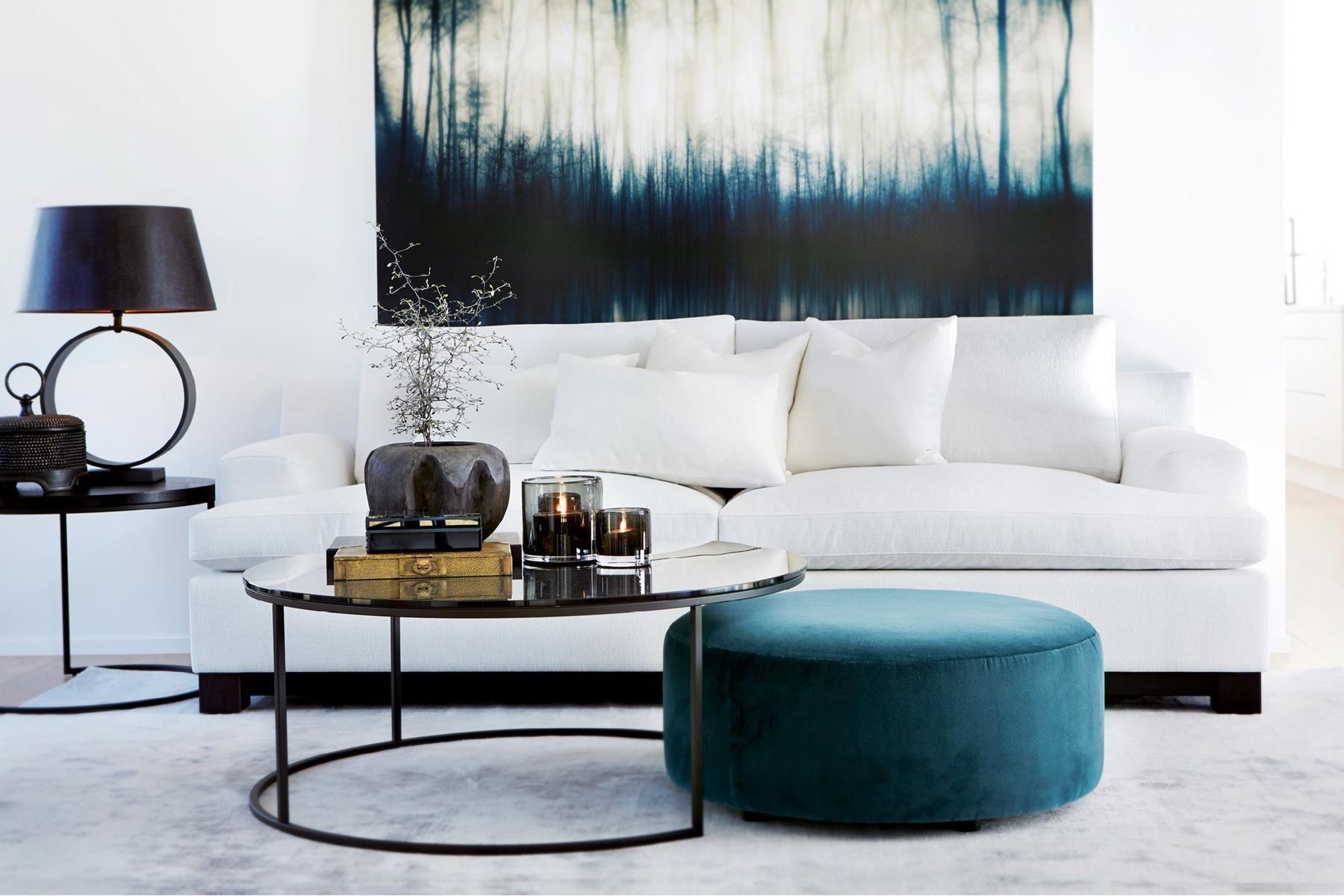 Bilderesultat for slettvoll sofa bl¥ interi¸r