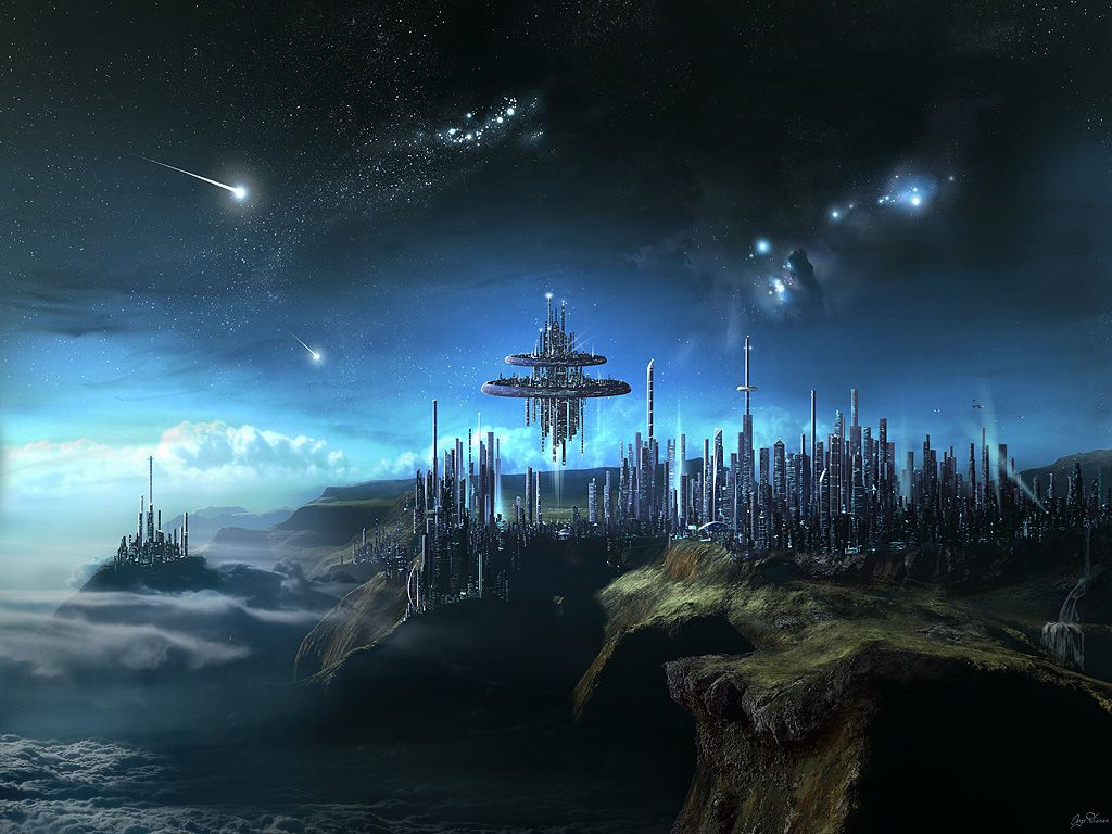 City In The Clouds By Gate To Nowheredeviantartcom On