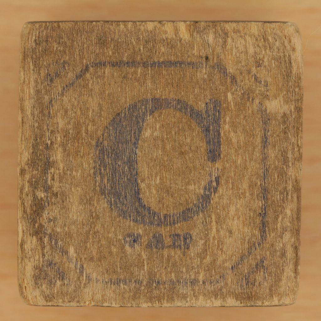 Vintage Wooden Block Letter C  Wooden Block Letters Block