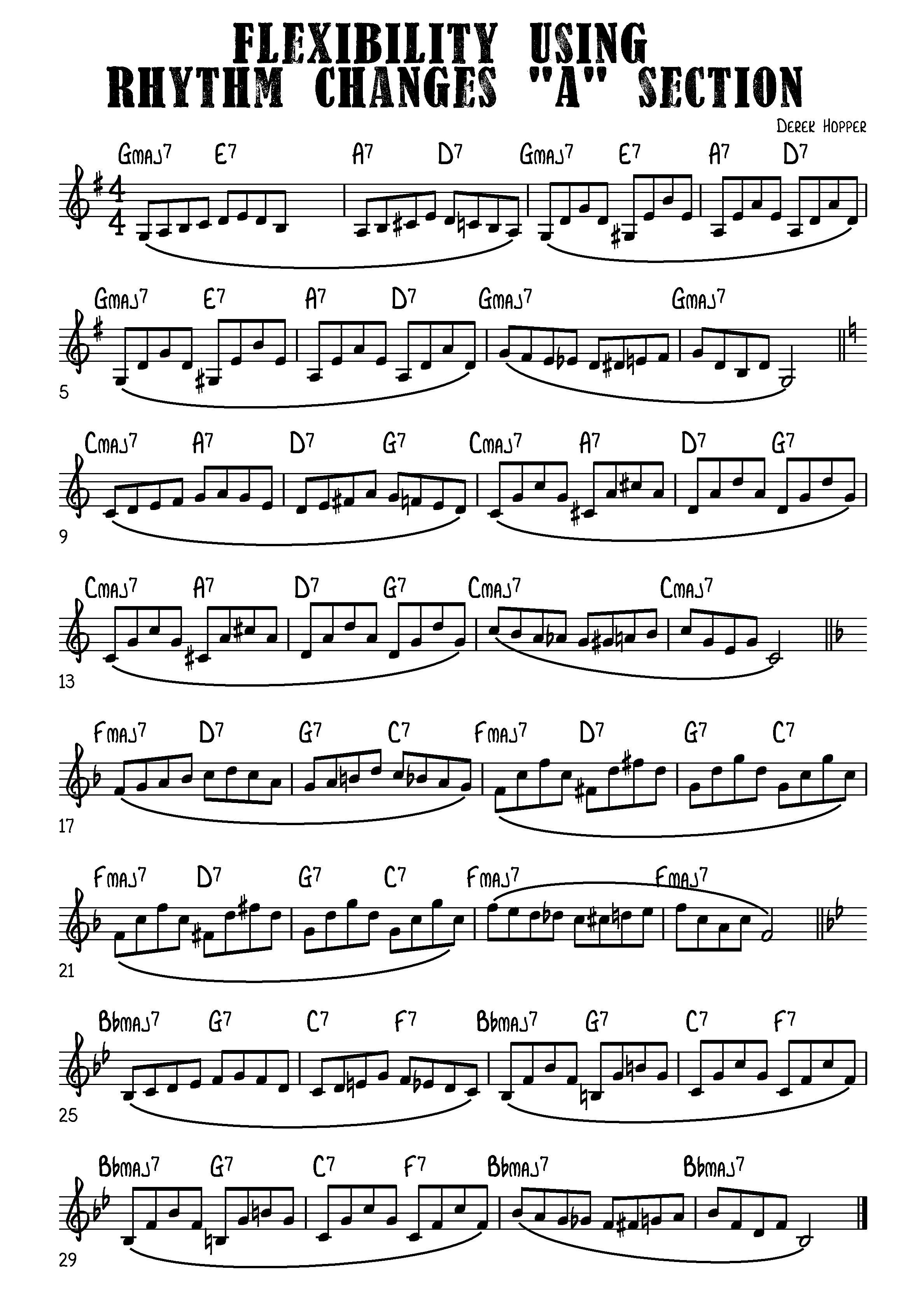 Rhythm Changes Workout Trumpet Exercise Database Jazz Guitar Lessons Music Theory Guitar Trumpet Music