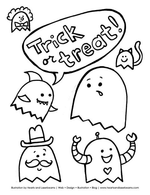 Free Halloween Printable Coloring Book Pages - Hearts and Laserbeams ...