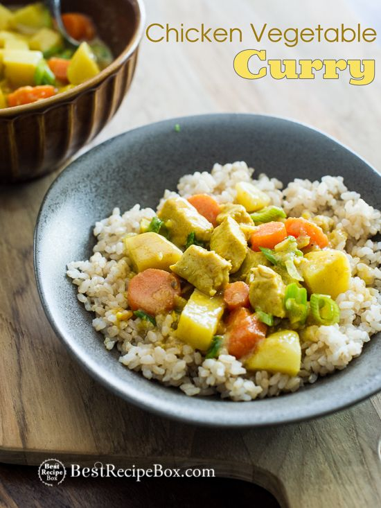 Easy Chicken Curry Recipe With Thai Curry Vegetables Best Recipe Box Recipe Chicken Curry Recipe Easy Curry Recipes Vegetable Curry Recipes