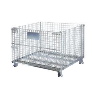 Hot Item Warehouse Storage Equipment Wire Mesh Folding Storage Cage Wire Mesh Storage China Storage