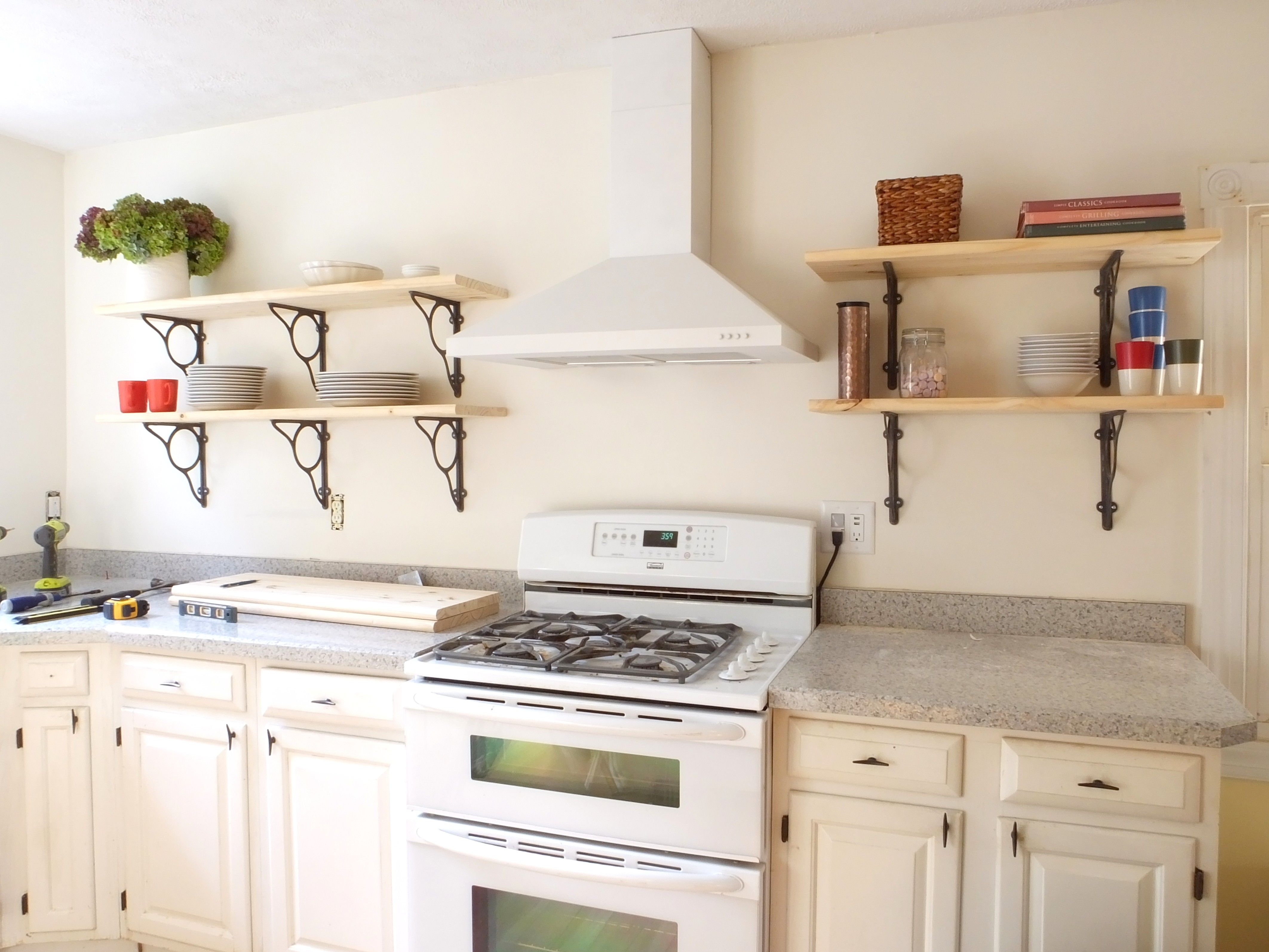 Nice Small Kitchen Shelf Ideas Part - 9: Excellent Kitchen Wall Shelving Ideas
