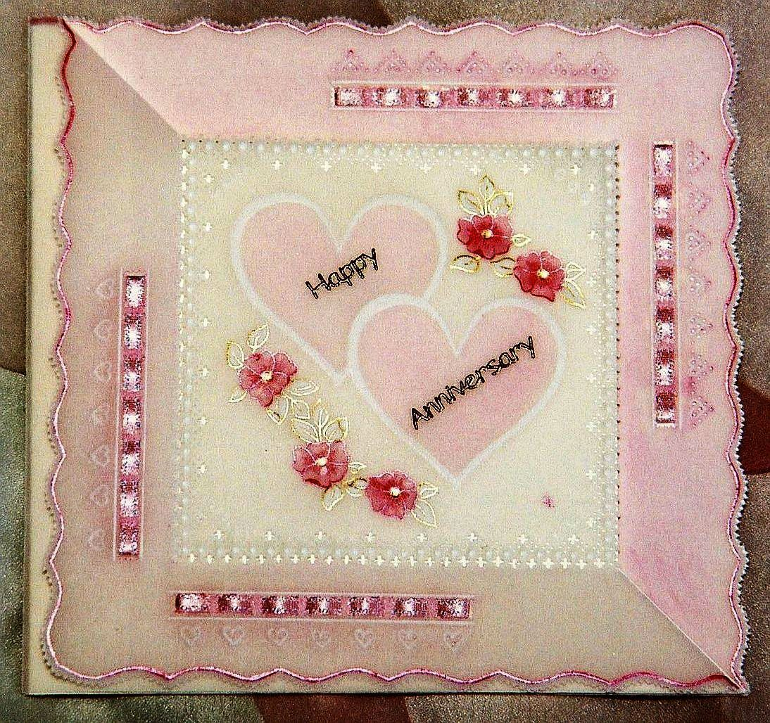 Pale Pink And Pretty I Made This Wedding Anniversary Card With Two