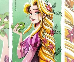 Imagen de disney, rapunzel, and art