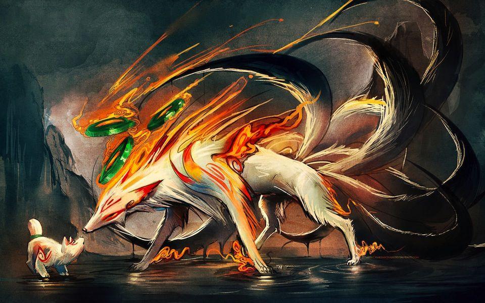 Okami Inspired Fan Art Will Be Your New Wallpaper Fox Art Nine