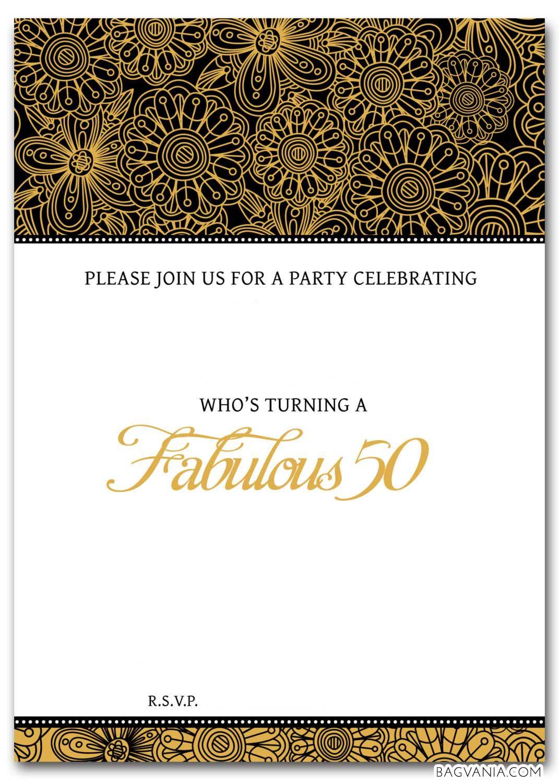 Free Free 50th Birthday Party Invitations Wording