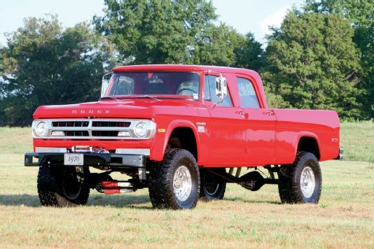 1970 Dodge Crew Cab Cummins Swap Power Wagon With Images
