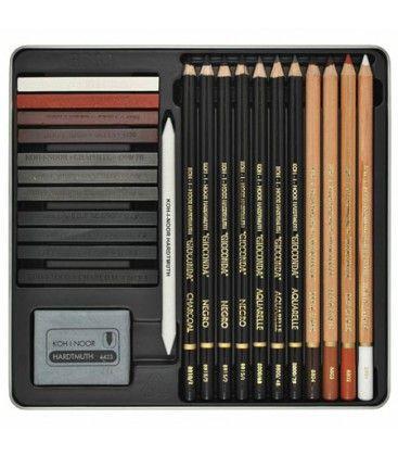 Set De Dibujo Profesional Gioconda Art Set 8899 Koh I Noor 24 Unidades Materiales De Dibujo Herramientas De Dibujo Materiales De Arte