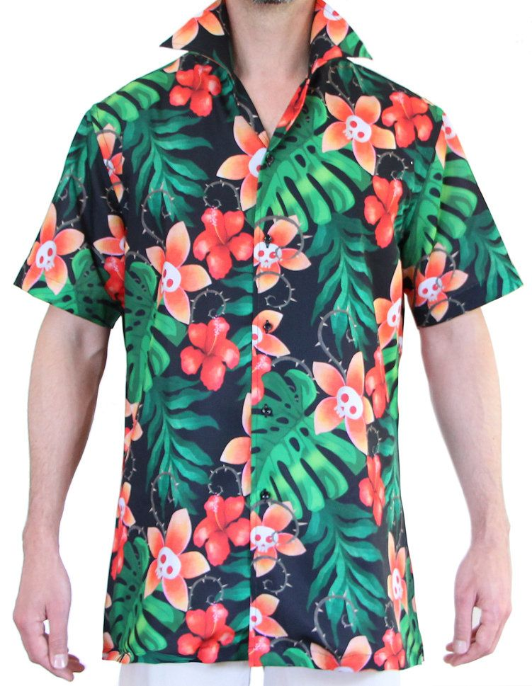 658f4427b8a6 Hawaiian Skulls Shirt by Magnoli Clothiers worn by Adam Sandler (Dracula)  in Hotel transylvania 3 summer vacation