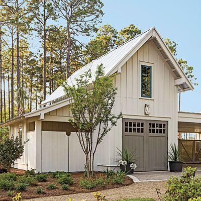 Exterior: The Garage   Palmetto Bluff Idea House Photo Tour   Southern  Living