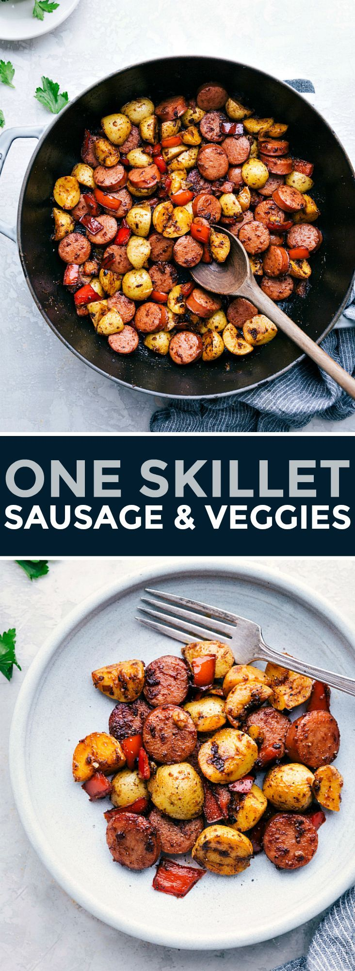 Photo of Sausage and Potatoes Skillet Meal | Chelsea's Messy Apron