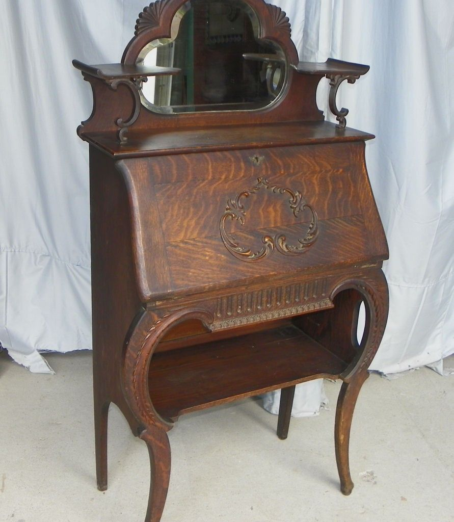Antique Vintage Furniture: Pictures+of+ladies+antique+oak+secretary+desks