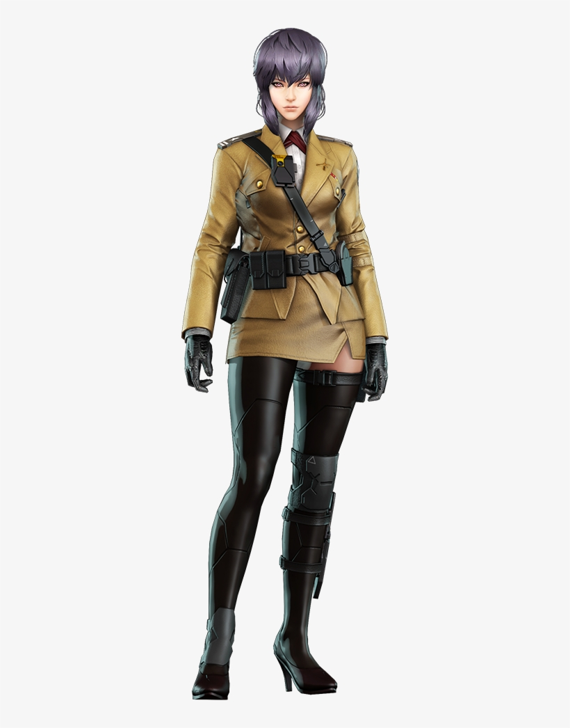 Motoko Kusanagi In Formal Uniform Ghost In The Shell Ghost In The Shell First Assault Paz Transparent Png Ghost In The Shell Motoko Kusanagi Ghost
