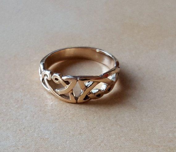 8eba302fdbe1 anillo celta oro 375 celta anillo de por BGJewelleryDesigns
