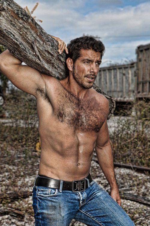 Rugged  Men, Older Men, Shirtless Men-4865