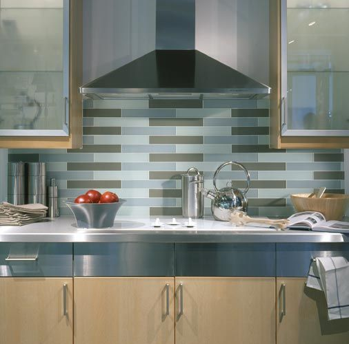 Solid Glass Backsplash Kitchen: Love The Solid, Yet Translucent, Colors Of These Etched