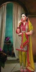 Designer Olive Colour Cotton Salwar Kameez at $ 38.8 USD Only For more details visit- http://buyapparel.in/index.php/catalogsearch/result/?q=Nirali