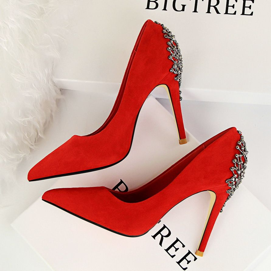 f5b5c3230eda Sexy High Heels Shoes Woman Pumps Red Gold Silver High Heels Shoes Woman  Ladies Wedding Party