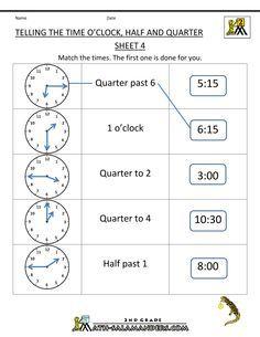 telling time worksheets telling the time oclock half quarter 4 school worksheets telling. Black Bedroom Furniture Sets. Home Design Ideas