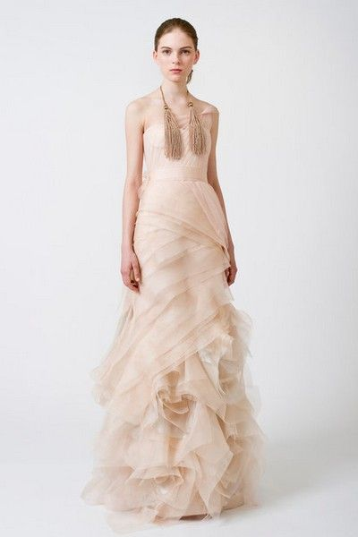 vera wang\'s farrah dress in blush. love this blush/nude trend in ...