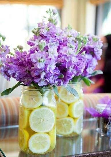decoracin boda en tonos lavanda fotos ideas originales originales centros de mesa lavanda