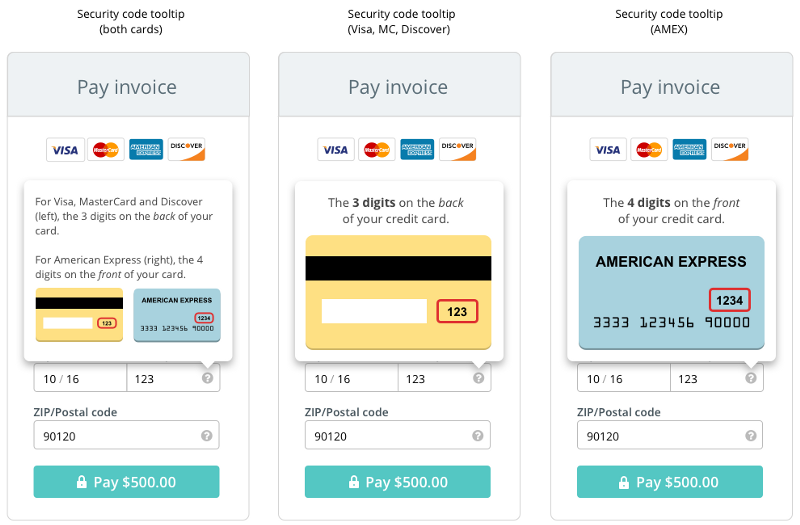 The Anatomy Of A Credit Card Form  User Experience Design