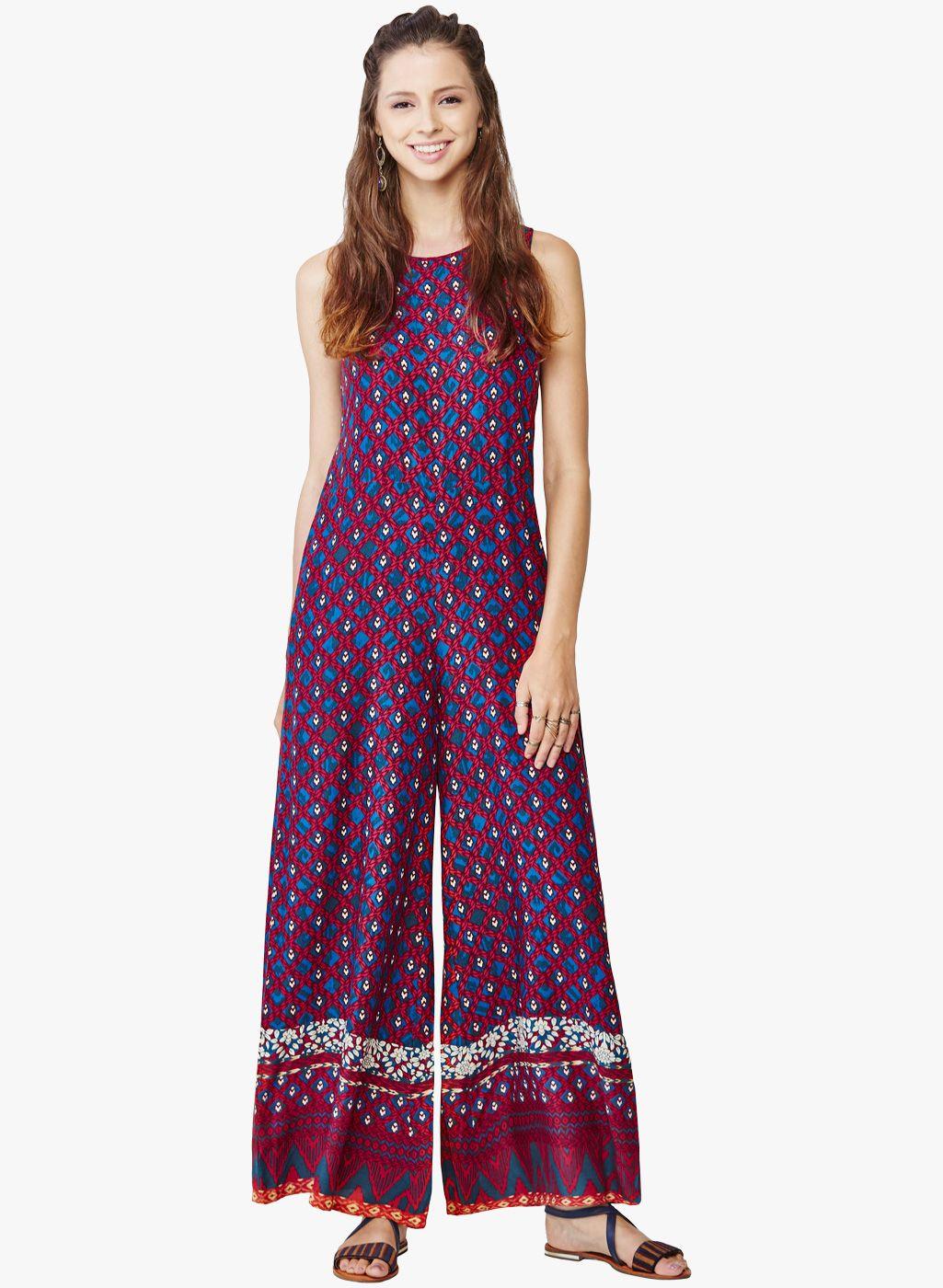 654c18dd14f5 Global Desi Multicoloured Printed Jumpsuit