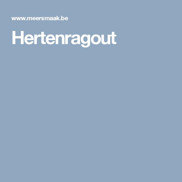 Hertenragout