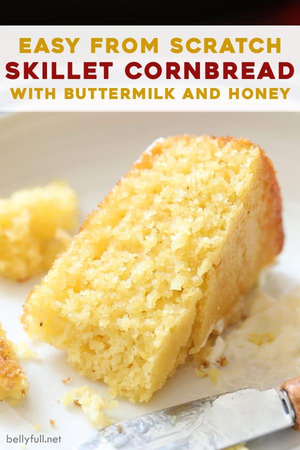 This Easy Homemade Cornbread Recipe Has A Crispy Golden Crust Moist Crumb And Wonderful Flavor With In 2020 Sweet Cornbread Corn Bread Recipe Easy Homemade Cornbread