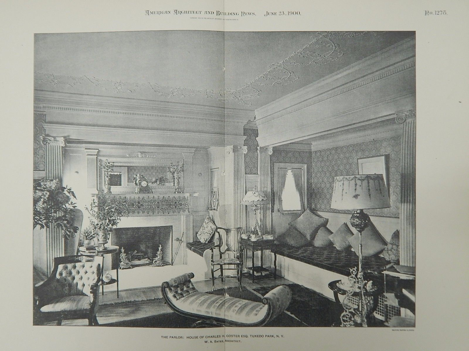 Parlor House Of Charles H Coster Tuxedo Park NY 1900