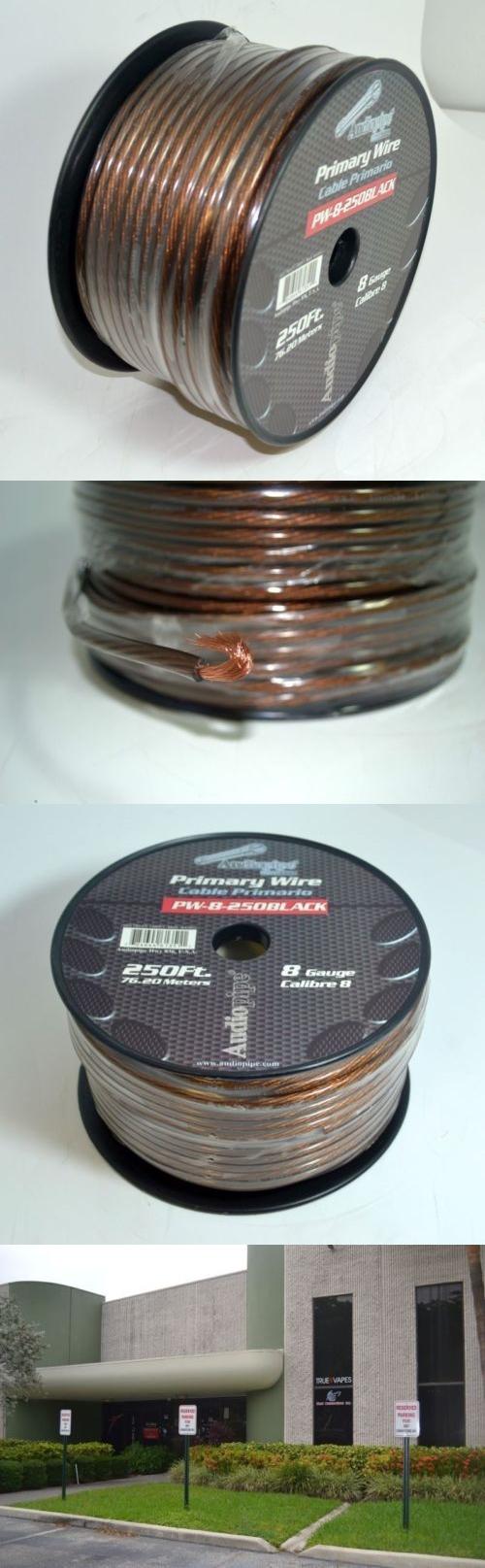 Power and Speaker Wire: Audiopipe 8 Ga Gauge Black Power Ground Wire ...